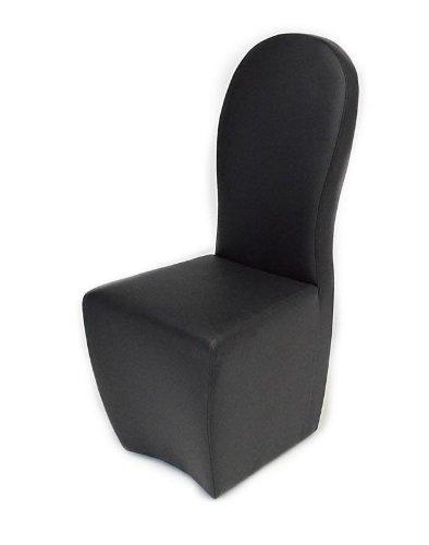 Amazon.com: 8969 – CH Negro polipiel silla de comedor ...