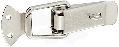 Latch Cases Safety Flap Design Steel Toggle Latch Hasp, Silver Tone By MariaP