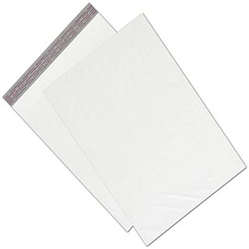 White Unprinted Poly Mailers, 14 1/2 x 19'' + 2'' Flap by Deluxe Corporation