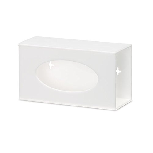 Single Side-Loading Glove Box Dispenser Holder, White Acrylic