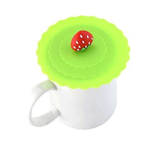 Daliuing Cubierta Linda de la Taza de la Serie del Gato Lindo Antipolvo de Silicona Copa de Vidrio Cover Drink Cup Tapa Taza de caf/é Sello de succi/ón Tapa Tapa