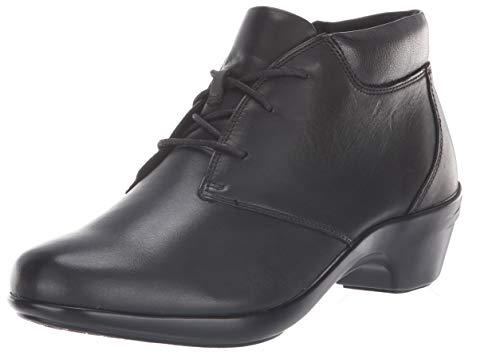 Aravon Women's KITT Chukka Boot, Black Leather, 9.5 D US