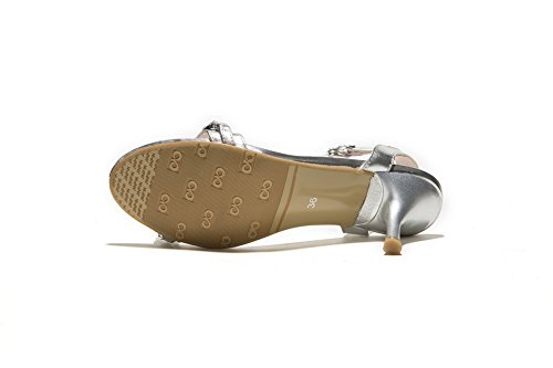 femme pour 1TO9 Sandales 1TO9 silver Sandales 8xItqOx4w
