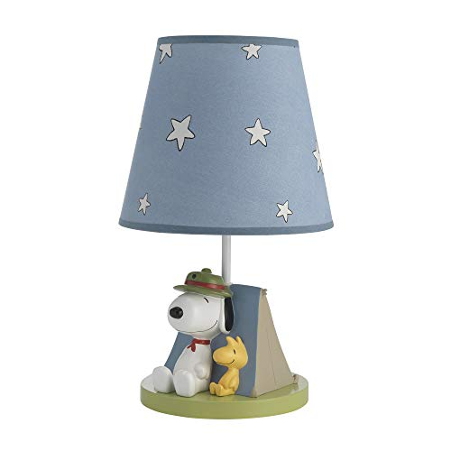 Peanuts Snoopy's Campout Stars Lamp with Shade & Bulb, Blue/White by Peanuts
