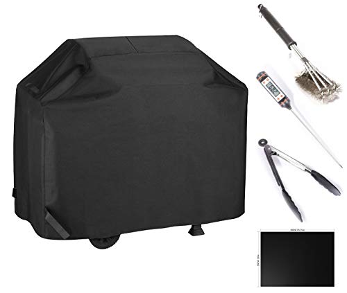 - BBQ Gas Grill Cover With Cooking Tools Set Waterproof & Rip Resistant Heavy Duty 58 Inch 3-4 Burners Electric Barbecue Grill Cover Fit Weber, Charbroil, And Other Most Popular Grill Brands(Black)