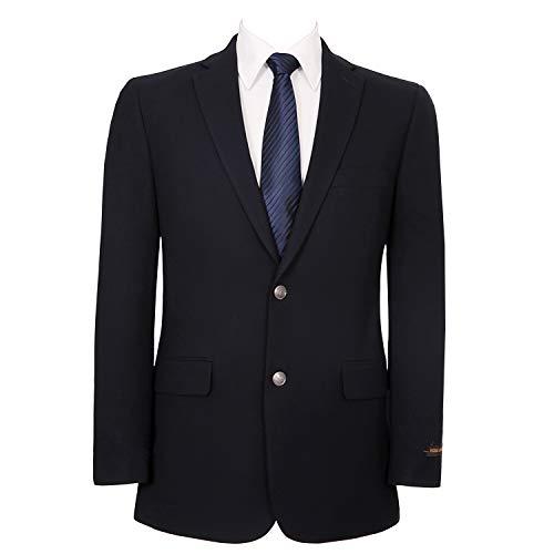 Lined Silk Blazer - Pio Lorenzo Men's Classic Fit 2 Button Blazer Suit Separate Jacket Navy