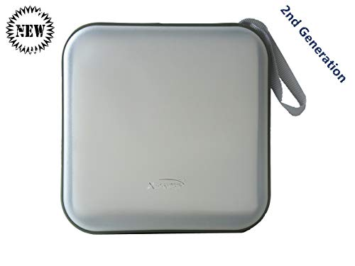 Second Generation 40 CD/VCD/DVD Storage Case Stiff Material with New Double Sleeves for Your CD Album White