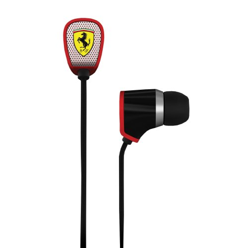 Ferrari AAV-2LFE011K Scuderia R100i Earphones with Three Button Remote - Black (Discontinued by - Ferarri Scuderia