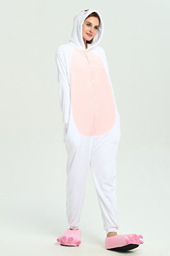 177CM One Blue 188CM Nightwear Jumpsuits Easter Dress Fancy Pyjamas Pink VineCrown Xmas Costume Animal Rabbit Cosplay Sleepsuits Piece Halloween Adult Costumes Hooded for Bunny XL Novelty xggwqSz8Bn