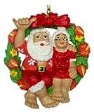 """KC Hawaii Mr. & Mrs. Claus Ornament 3.4"""""""