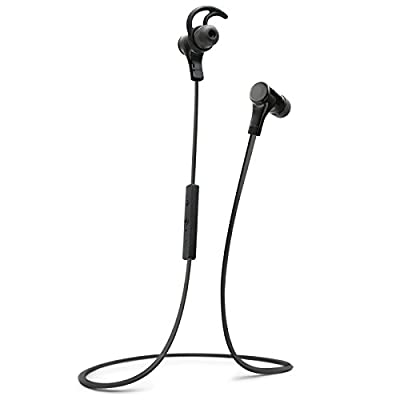 Bluetooth Headphones, Wireless Earbuds Earphones with Microphone by Zero-One Audio 01ABH002-High Quality Sound-Light Weight Design for Sports-Made for Phones Like Samsung S6, iPhone 6 and More (Black)