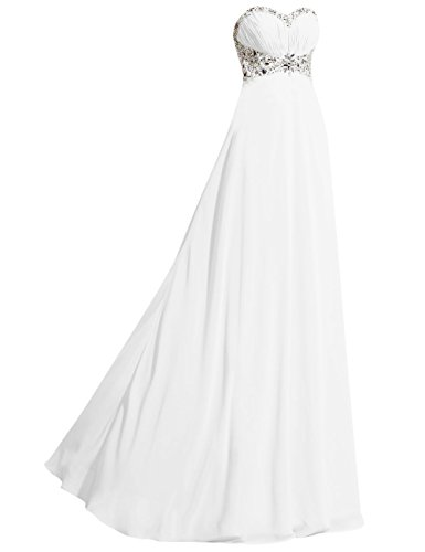 Strapless Sweetheart Chiffon Bridal Wedding JAEDEN Dress Gown Beach Ivory wq0OCxCt