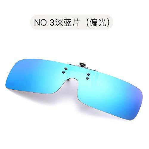 blue Espejo de polarizados Dark Azul de película Sol Hombres los Manera Clip Conductor Color de polarizado de de polarizado la Vidrios Burenqiq Cuadrado Gafas la Oscuro fHOwq4x