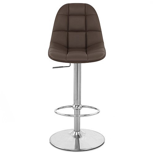 Cheap Zuri Furniture Brown Rochelle Adjustable Height Swivel Armless Bar Stool