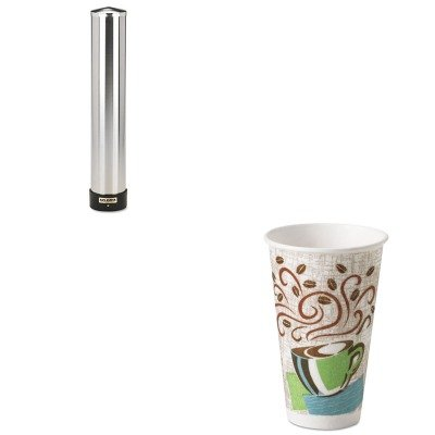 KITDXE5356DXSJMC3400P - Value Kit - Dixie Hot Cups (DXE5356DX) and San Jamar Large Water Cup Dispenser w/Removable Cap (SJMC3400P) by Dixie