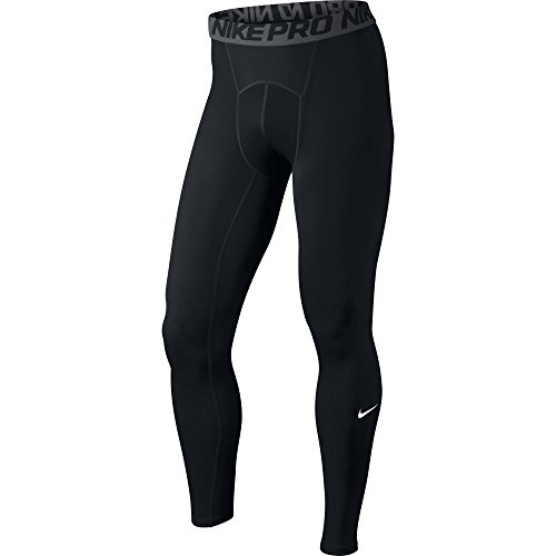 NIKE Men's Pro Tights, Black/Dark Grey/White, Small