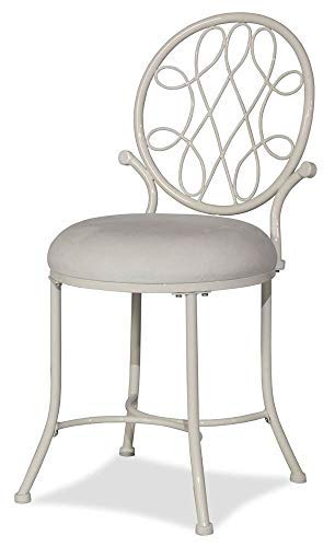 Hillsdale Furniture Vanity Stool in White Color