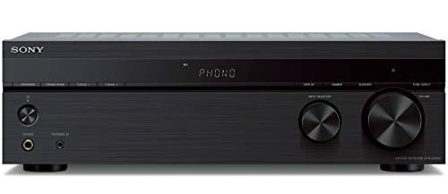 Sony STRDH190 2-ch Stereo Receiver with Phono Inputs & Bluetooth with 100ft of Speaker Wire and 5 Pairs of Banana Plugs