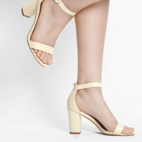 af6dee257f9 Allegra K Women Open Toe High Chunky Heel Ankle Strap Sandals ...