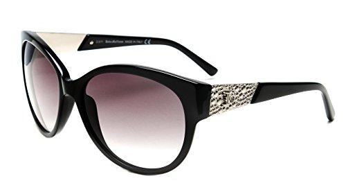 John Galliano Womens Sunglasses Black Silver Frame Gradient Grey Lens JG0057 - John Sunglasses Galliano