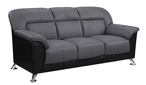 Global Furniture U9102 - DGR/BL - Sofa Sofa, Dark Grey/Black
