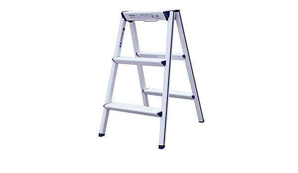 XB-ZDT Escalera Plegable, Cocina Casera/Fotografía/Pintura/Trabajo Al Aire Libre/Aluminio Plegable Escalera Pequeña Espesamiento Multi-función Plataforma En Espiga Plataforma Plataforma Escale: Amazon.es: Hogar