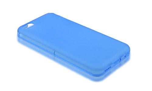Schutz Hülle für Apple iPhone 5c TPU Back Cover Etui Case Silikon blau NEU