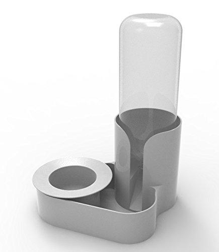 Pet Feeding Bowl & Automatic Water Station - Ant Proof (Small - Cat, Standard Granite Grey) Original
