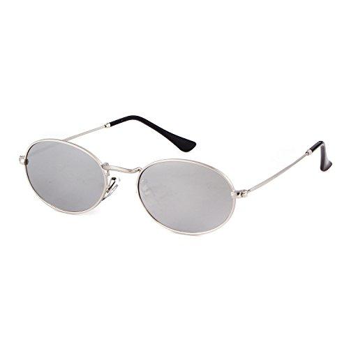 silver New Femmes Lunettes de frame Soleil lens 1 Silver Pour ADEWU nHTa8qw
