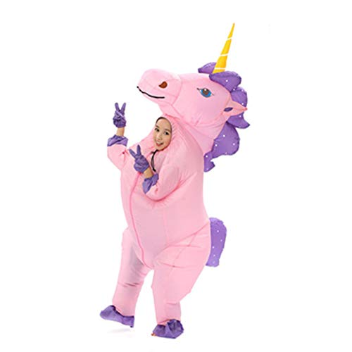 Adult Kids Inflatable Unicorn Pony Costumes Cosplay Fantasia -