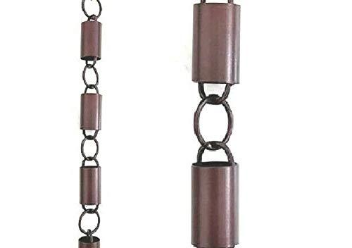 Rain Chain Bronze Powder Coat Aluminum 8.5 Ft # 90131