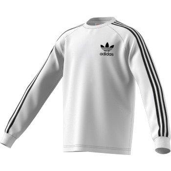 adidas Originals Big Boys' Originals California Long Sleeve Tee, White/Black, XL