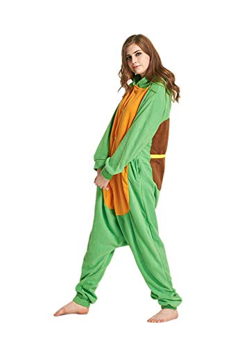 Unisex Adult Pajamas Sea Turtle Plush One Piece Cosplay Jumpsuit Animal Costume ()
