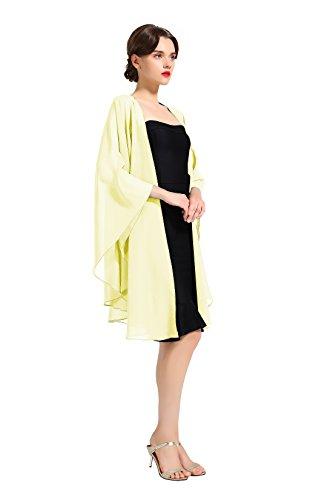 Chiffon Shawl Bridal Wedding Wrap Long Evening Scarves Scarf Yellow