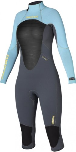 Back Zip Steamer - Mystic Star Ladies 4/3mm Short Leg Back Zip Steamer Grey/Blue Wetsuit Sizes - Extra Small