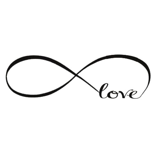 Sonline Wall Decal Of Love Personalized Infinity Symbol Bedroom Wall