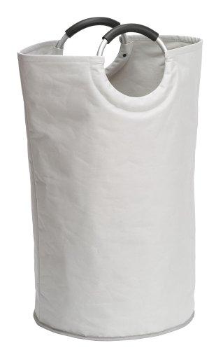 Wenko 3440001100 Wäschesammler Jumbo Stone - Multifunktionstasche , Fassungsvermögen 69 L, Kunststoff - Polyester, 55 x 64 x 38 cm, Hellgrau