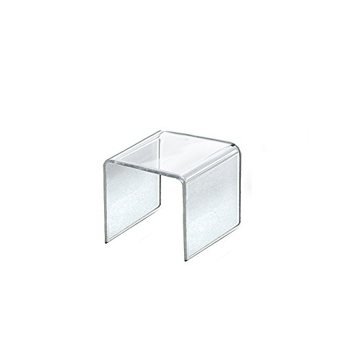 Count of 4 New Retail Clear Acrylic Riser Square Display 3.5''W x 3.5''H x 3.5''D