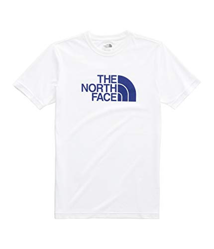 The North Face Men's Short Sleeve Tri-Blend Half Dome Tee, TNF White Heather/Aztec Blue, Size 3XL ()