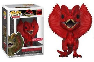 Funko Pop Movies: Jurassic Park - Red Dilophosaurus Collectible Figure, Multicolor -