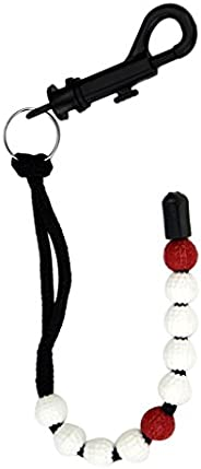 Golf Beads Count Stroke Score Counter Counting Bracelet Bag Tag 12.8mm Diameter Beads with Clip for Golf Train