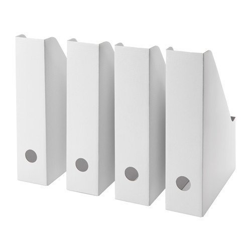 Magazine file Pack of 4 White