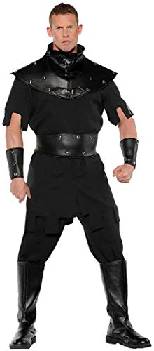 Underwraps Medieval Punisher Executioner Adult Halloween Mens Costume Standard or Plus Size Black -