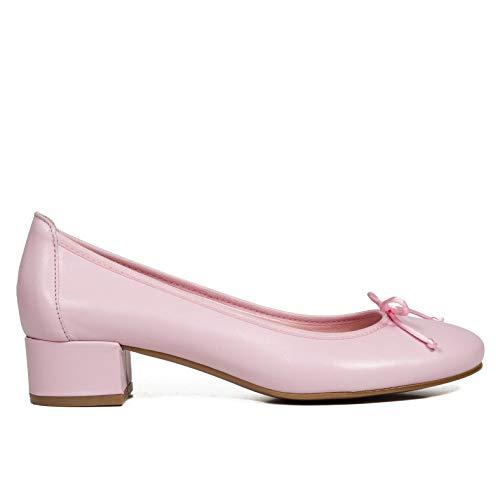 51c5b9f06 Gel Hechos Piel Tacón Plantilla Mimao Mujer Zapatos Mujer Bailarinas  Confort En España Manoletinas Cómodos Rosa ...
