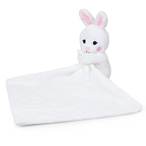 Waddle Bunny Rabbit Stuffed Animal Rattle Toy Plush Security Blanket For Baby Girls Bunny Hop Baby Blanket