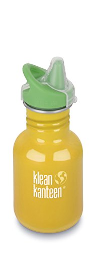 Klean Kanteen Kid's School Bus Stainless Steel Sippy Bottle, 12-Ounce