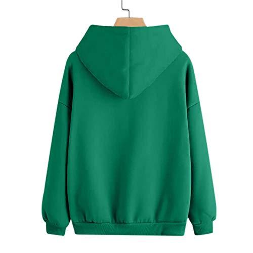 imprim Dames Femmes 2018 Vert Bellelove Occasionnel Poches Blouse Automne Plume Sweat Manches Longues Pull Capuche Shirt Dessus des avec 5vq0qdwr