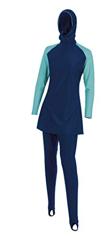 bleu Femme Musulmane De Marine Maillot Porte Bain Plongée Beco Tesetto Bleu Hijab 71Pqw