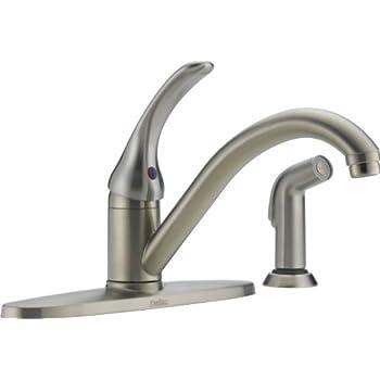 Delta 400-SS-DST-L Classic Single Handle Kitchen Faucet
