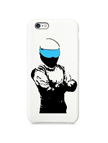 [The Stig (Top Gear) iPhone 6 White Case Cover Skin (White)] (Famous People With Glasses)